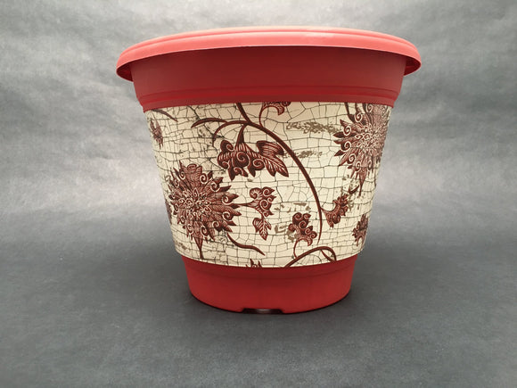 3 Gallon Red Raku Flower Pot