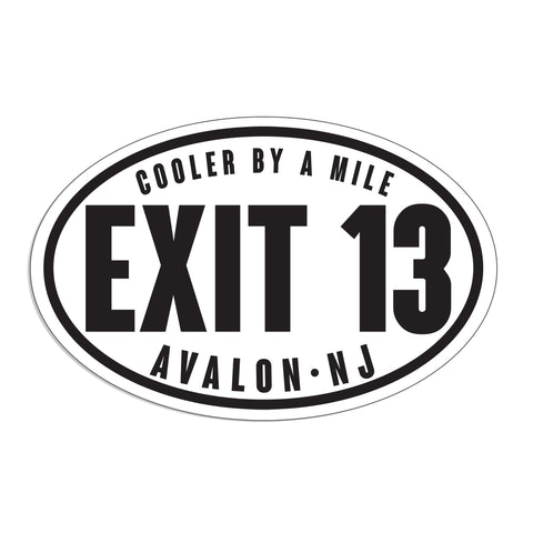 EXIT 13 (AVALON NJ) CAR MAGNET