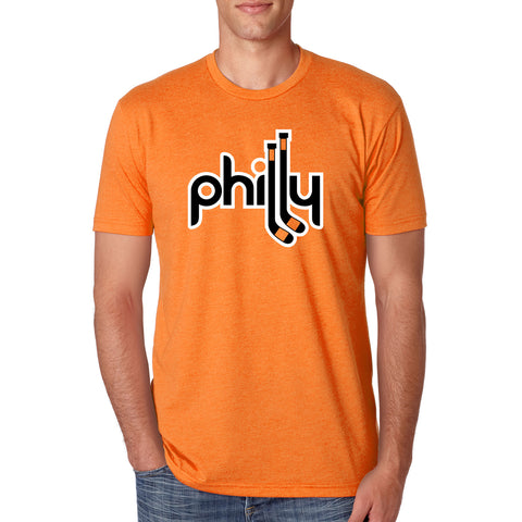 "PHILADELPHIA FLYERS ORANGE & BLACK ""PHILLY"" T-SHIRT"