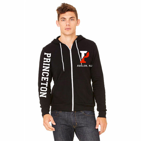 FLEECE FULL-ZIP HOODIE BLACK