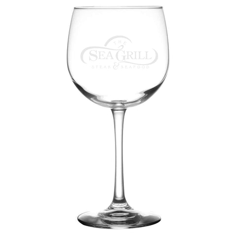 SEA GRILL LOGO WINE GLASS