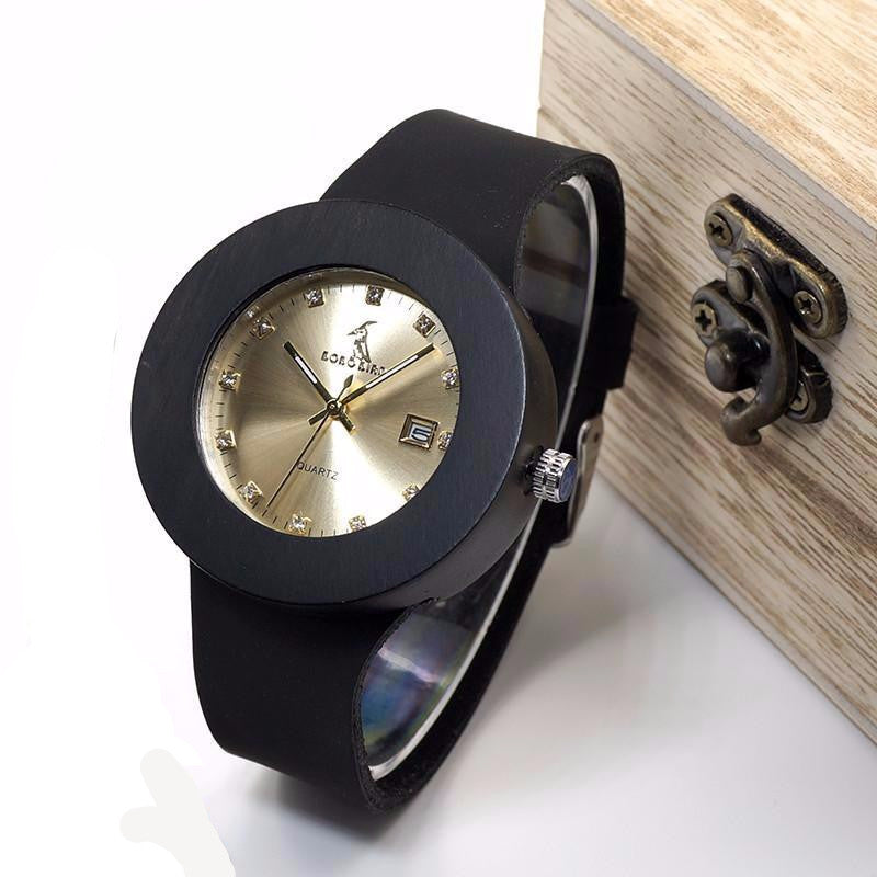 BOBO BIRD C03 Ebony Wooden Watch - rightwood