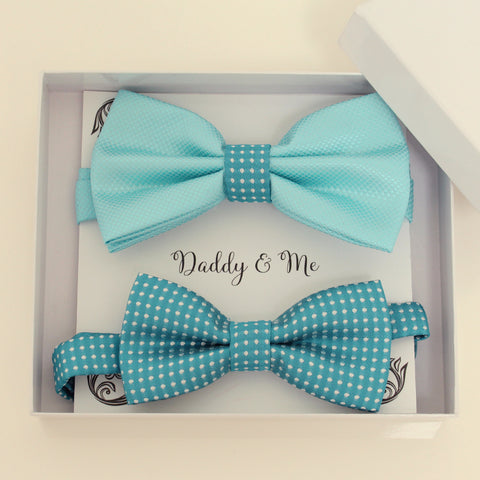 Blue Bow tie set for daddy and son, Daddy me gift set, Father son matching, Blue kids bow, daddy me bow tie, some thing blue, handmade gift