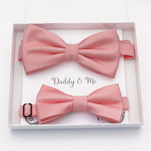 Blush Bow tie set daddy son, Daddy and me gift Grandpa and me, Father son matching, Kids bow tie, Kids adult bow tie, High quality