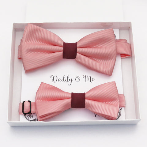 Blush Burgundy  Bow tie set daddy son, Daddy and me gift, Grandpa and me, Father son matching, Kids bow tie, Kids adult bow tie, high quality