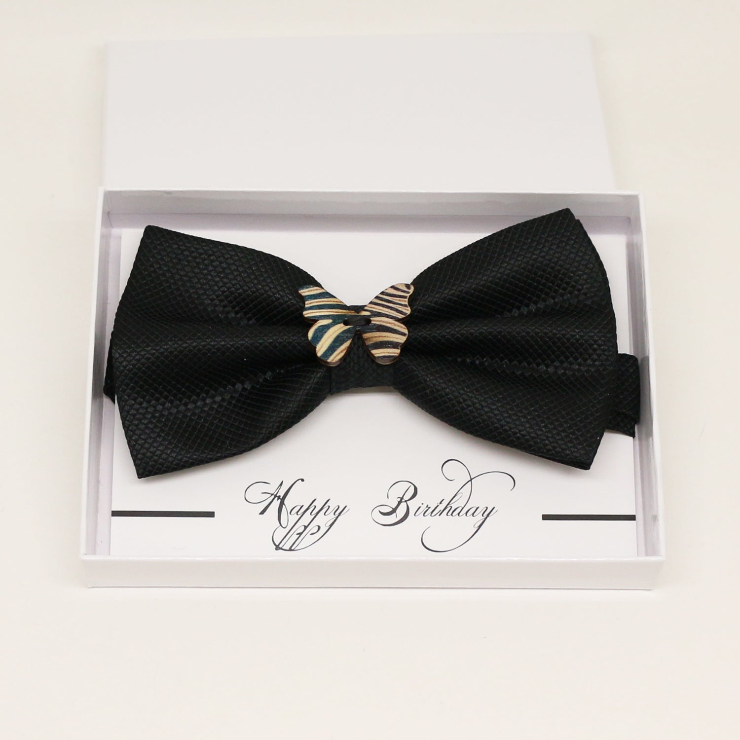 Black wooden butterfly bow tie, Best man request gift, Groomsman bow, handmae Ring Bearer bow, Man of honor gift,black kids toddler bow tie