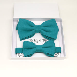 Teal blue Bow tie set for daddy and son, Daddy and me bow tie gift set, Grandpa me, Teal blue Kids bow, Teal blue bow tie, Some thing blue