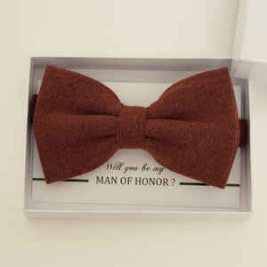 Brown cinnamon bow tie, Best man gift , Groomsman bow tie, Man of honor gift, Best man bow tie, man of honor request, thank you gift