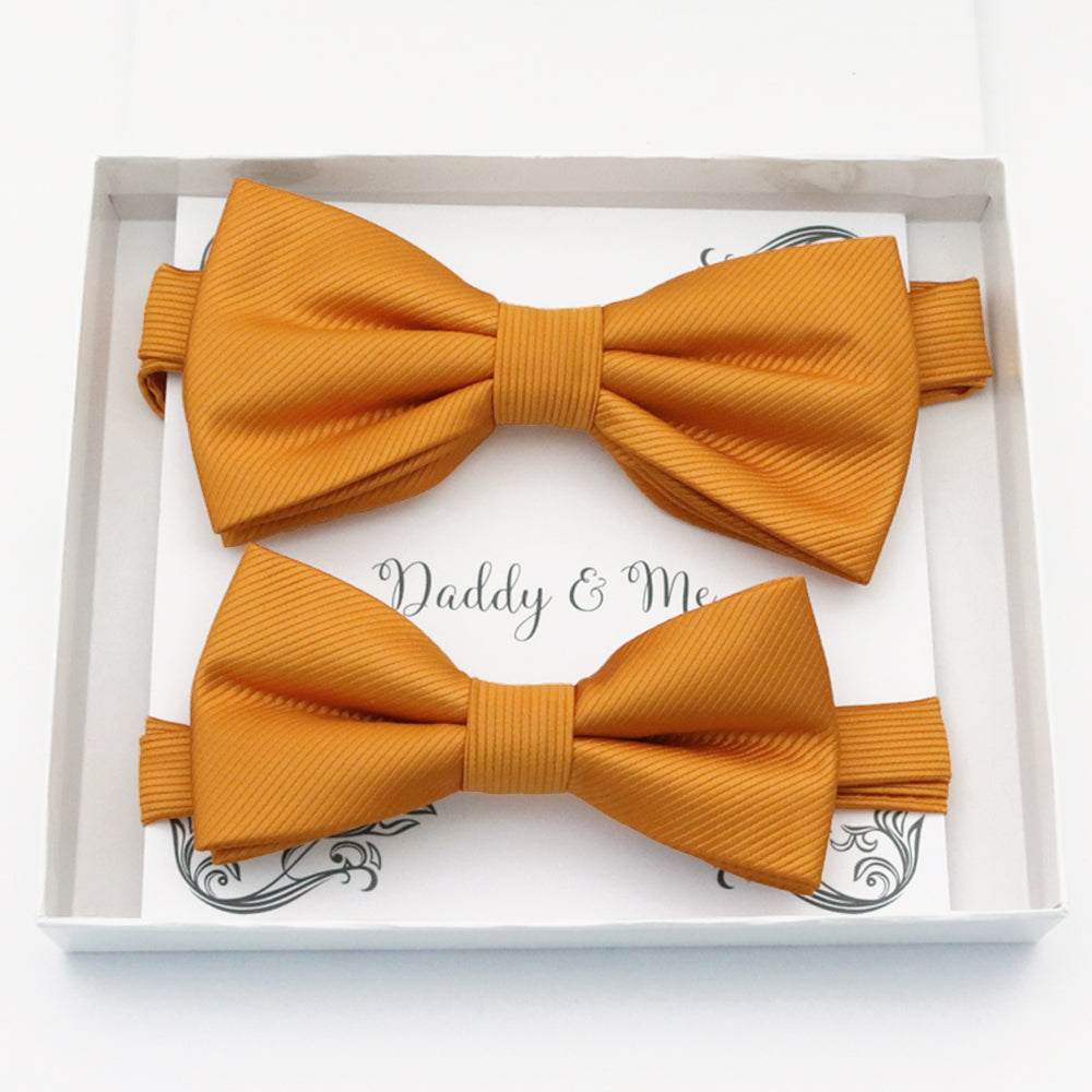 Burnt orange Bow tie set daddy son, Daddy and me gift Grandpa and me, Father son matching, Kids bow tie, Kids adult bow tie, High quality