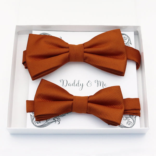Cinnamon Bow tie set daddy son, Daddy and me gift Grandpa and me, Father son matching, Kids bow tie, Kids adult bow tie, High quality