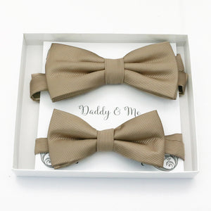 Champagne Bow tie set daddy son, Daddy and me gift, Grandpa and me, Father son matching, Kids bow tie, Kids adult bow tie, high quality