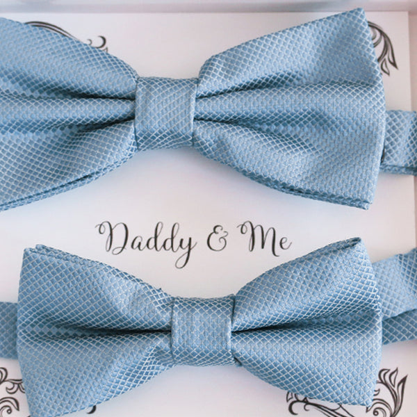 Dusty blue Bow tie set for daddy and son, Daddy and me bow tie gift set, Grandpa me, Dusty blue Kids bow, Dusty blue bow, Some thing blue