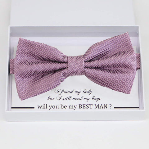 Dusty lavender bow tie, Best man gift, Groomsman bow, Man of honor, ring bearer bow, handmade birthday gift, Congrats grad, Dusty lavender