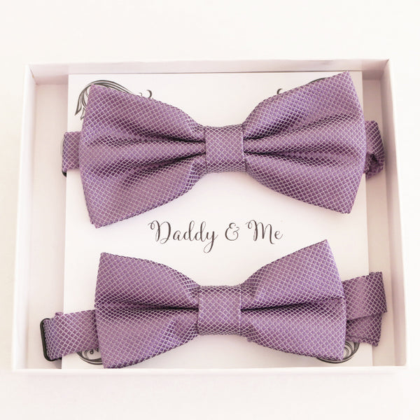 Dusty lavender bow tie set for daddy and son, Daddy and me gift set, Grandpa and me, Father son matching, Dusty lavender bow tie for kids