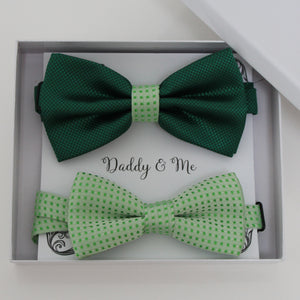Green bow tie set for daddy and son, Daddy and me gift set, Grandpa and me, Father son matching, Toddler bow tie, daddy and me bow tie gift
