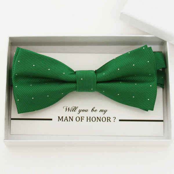 Emerald green bow tie, Best man request gift, Groomsman bow tie, Man of honor gift, Best man bow tie, best man gift, man of honor request