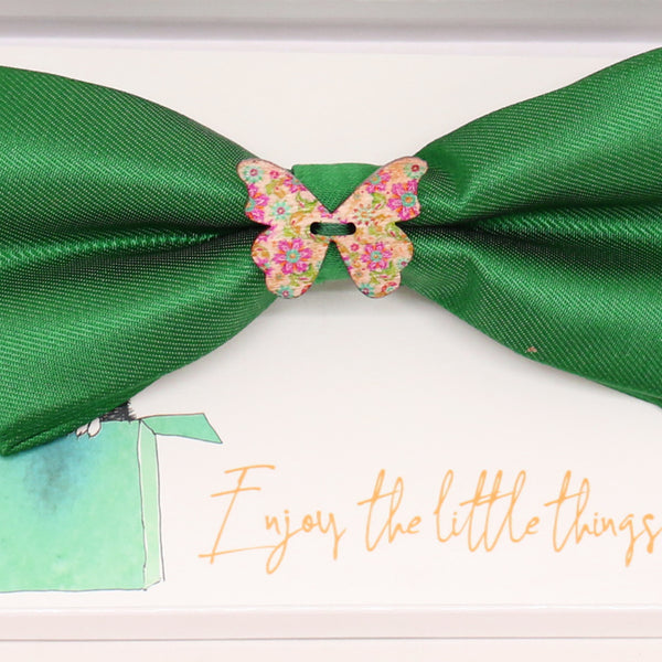 Green wooden butterfly bow tie, Brithday gift, congrats grad, Congrats, green bow tie, Butterfly, Green bow tie, handmade bow, Ring bearer