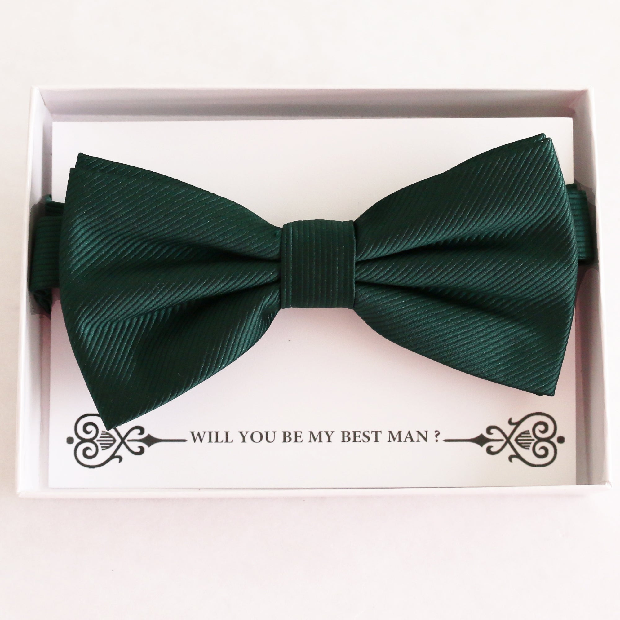 Emerald Green bow tie Best man Groomsman Man of honor ring bearer request gift, Kids adult bow, Adjustable Pre tied High quality