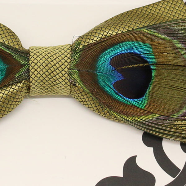 Olive green peacock feather bow tie, Groomsman, Best man request, man of honor bow tie, Congrats grads, Happy birthday, Han