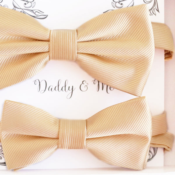 Ivory Bow tie set Kids Adult bow tie Daddy me Father son match, kids bow Adjustable pre tied, High quality