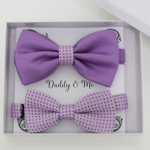 Lavender bow tie set for daddy and son, Daddy and me gift set, Grandpa and me, Father son matching, Toddler bow tie, daddy and me bow tie