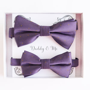 Lavender Bow tie set Kids Adult bow tie Daddy me Father son match, kids bow Adjustable pre tied, High quality