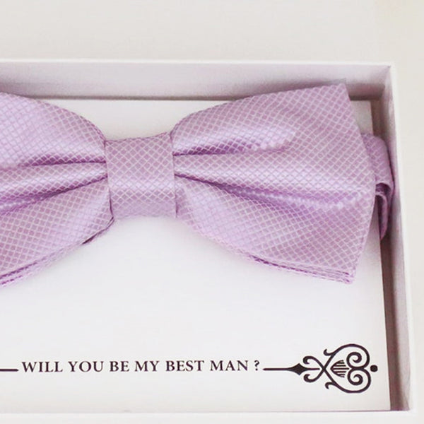 Lilac bow tie, Best man request gift, Groomsman bow tie, Man of honor gift, Best man bow tie, man of honor, Lilac bow tie, thank you gift