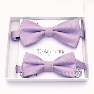 Lilac polka dots Bow tie set daddy son, Daddy and me gift Grandpa and me, Father son matching, Kids bow tie, Kids adult bow tie, High quality