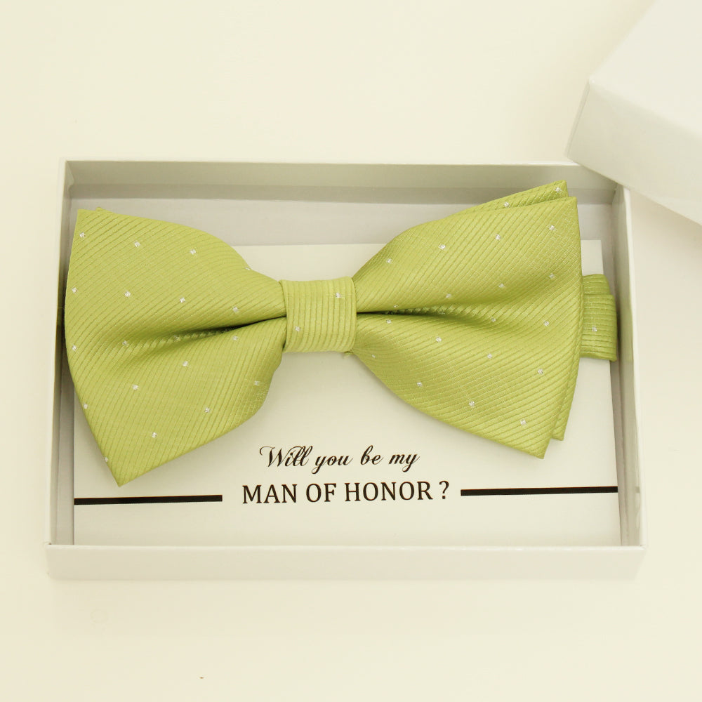 Lime green bow tie, Best man request gift, Groomsman bow tie, Man of honor gift, Best man bow tie, man of honor, Green bow tie, thank you