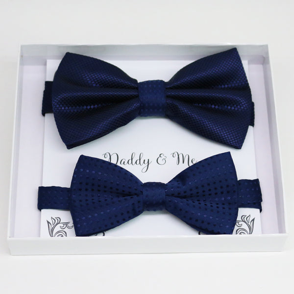 Navy Bow tie set for daddy and son, Daddy me gift set, Grandpa and me, Father son matching, kid bow tie, daddy me bow tie gift
