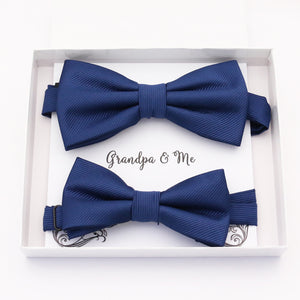Navy Bow tie set daddy son, Daddy and me gift, Grandpa and me, Father son matching, Kids bow tie, Kids adult bow tie, high quality
