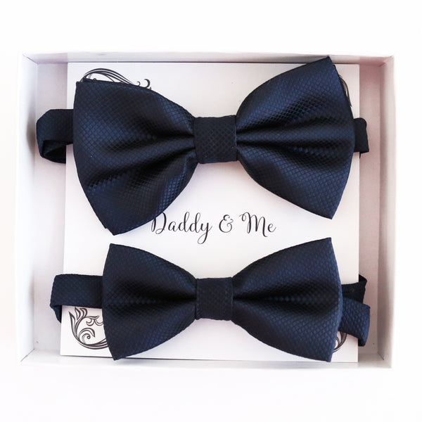Navy Bow tie set for daddy and son, Daddy and me gift set, Grandpa and me, Some thing blue, Toddler bow tie, daddy and me bow tie gift