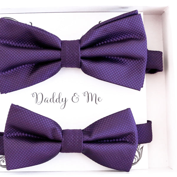 Purple Bow tie set for daddy and son, Daddy and me gift set, Grandpa and me, Father son matching, Toddler bow tie, daddy and me bow tie gift