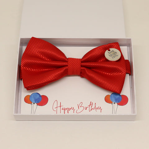 Red bow tie, Best man request gift, Groomsman bow, Man of honor gift, Best man bow, Happy Birthday, Congrats, Congrats grad Live Love laugh