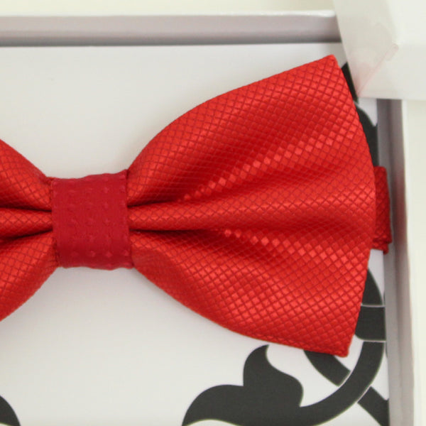 Red bow tie, Best man request gift, Groomsman bow tie, Ring Bearer bow tie, Man of honor gift, baby announcement, Red kids bow tie, handmade