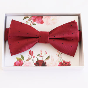 Red bow tie Best man Groomsman Man of honor ring bearer request Christmas New year gift, Kids adult bow, Adjustable Pre tied High quality