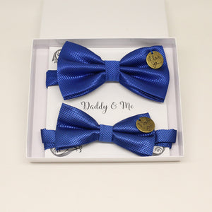 Royal blue Bow tie set for daddy and son, I love you , Daddy and me gift, Grandpa gift, Father son, Royal blue Toddler kids bow, handmade