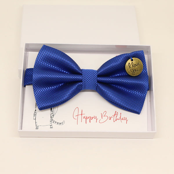 Royal blue bow tie, Best man request gift, Groomsman bow, Man of honor, Best man bow, Happy Birthday, Congrats, Congrats grad, I love you