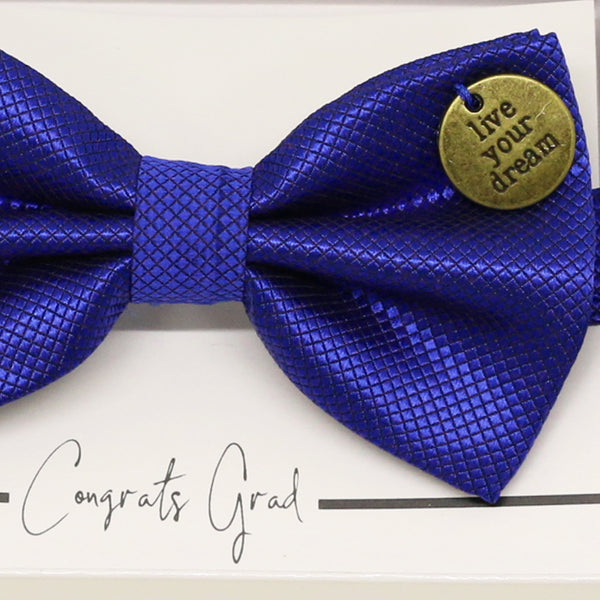 Royal blue bow tie, Best man request gift, Man of honor gift, Best man bow, Happy Birthday, Congrats, Congrats grad, Live your dream