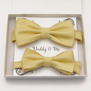 Sunlight yellow Bow tie set daddy son, Daddy and me gift Grandpa and me, Father son matching, Kids bow tie, Kids adult bow tie, High quality