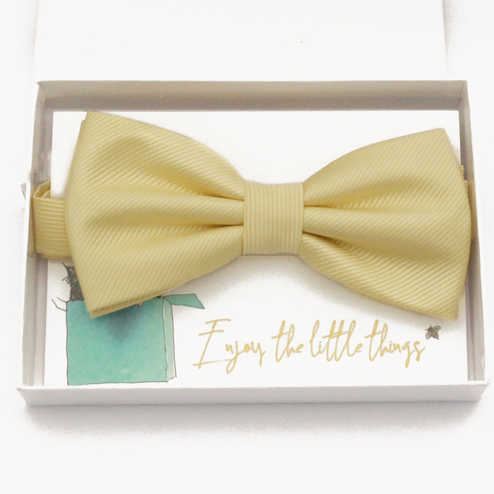 Sunlight yellow bow tie Best man Groomsman Man of honor ring bearer request gift, Kids adult bow, Adjustable Pre tied High quality, Birthday Congrats