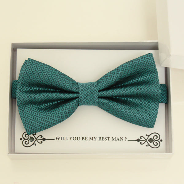 Teal blue bow tie, Best man gift , Groomsman bow tie, Man of honor gift, Best man bow tie, best man gift, man of honor request, Teal blue