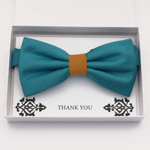 Teal blue orange bow tie Best man Groomsman Man of honor ring bearer request gift, Kids adult bow, Adjustable Pre tied High quality, Birthday Congrats