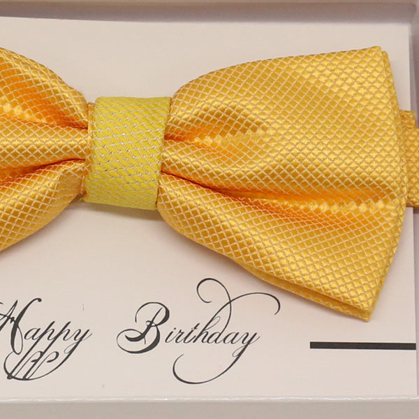 Sunny Yellow bow tie, Best man request gift, Groomsman bow tie, Ring Bearer bow, Happy birthday, congrars grads, yellow tooddler bow tie,