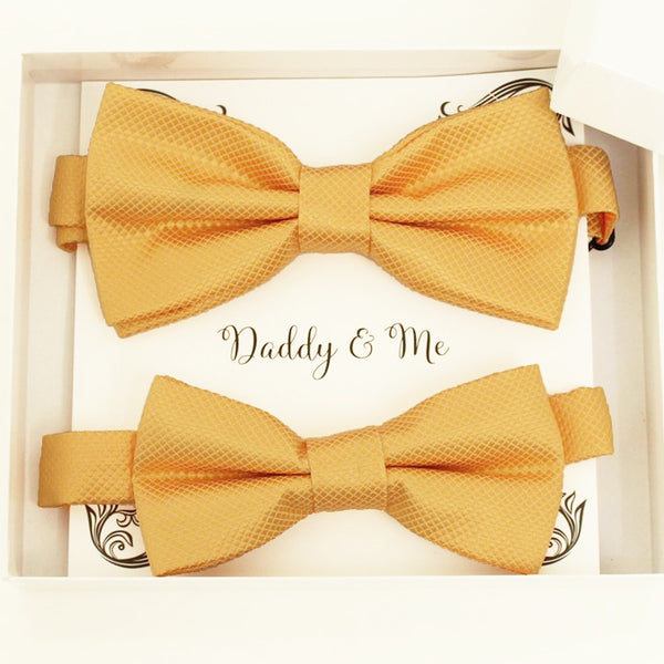 Yellow bow tie set for daddy and son, Daddy and me gift set, Grandpa and me, Father son matching, Yellow Kids bow tie, daddy and me bow