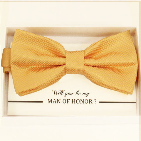Yellow bow tie Best man Groomsman Man of honor ring bearer request gift, Kids adult bow, Adjustable Pre tied High quality, Birthday