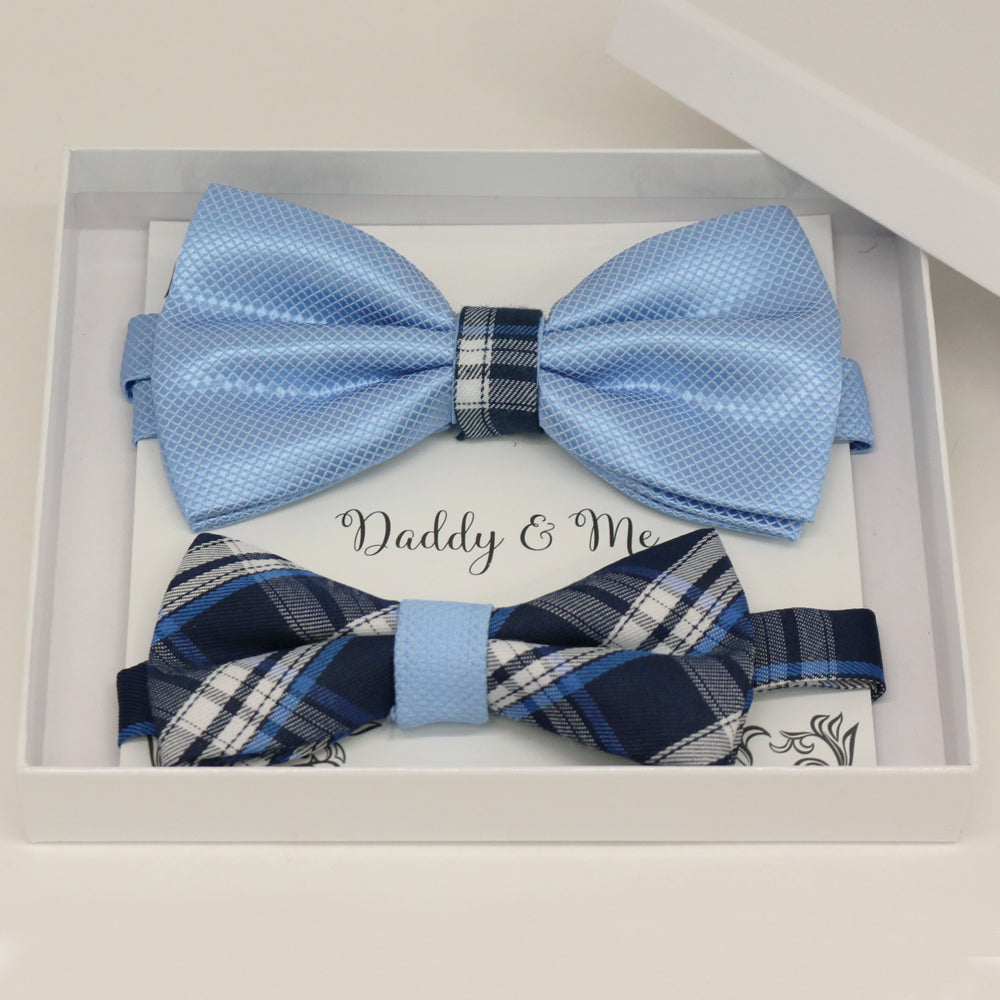 Blue Bow tie set for daddy and son, Daddy and me gift set, Grandpa and me, Father son matching, Toddler bow tie, daddy and me bow tie gift, some thing blue
