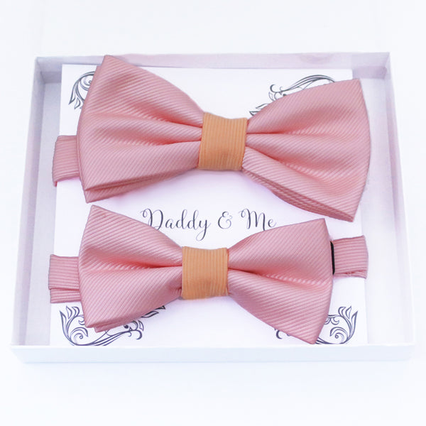 Blush peach Bow tie set daddy son, Daddy Grandpa and Me Father son matching, Kids adult bow tie, Adjustable pre tied bow High quality