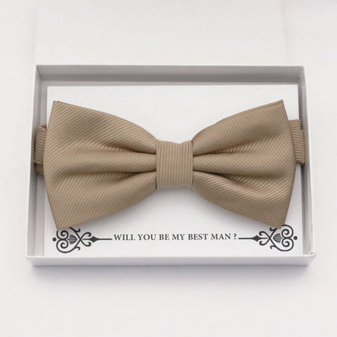 Champagne bow tie Best man Groomsman Man of honor ring bearer request gift, Kids adult bow, Adjustable Pre tied High quality, Birthday Congrats