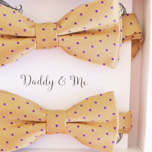 Cream Lavender Bow tie set Kids Adult bow tie set Daddy me Father son match, Handmade kids bow Adjustable pre tied, High quality